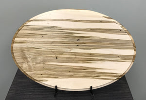 "Wormy Maple Oval - 10"" x 15"""