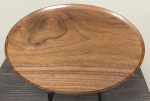 "Walnut Oval - 8"" X 12"""