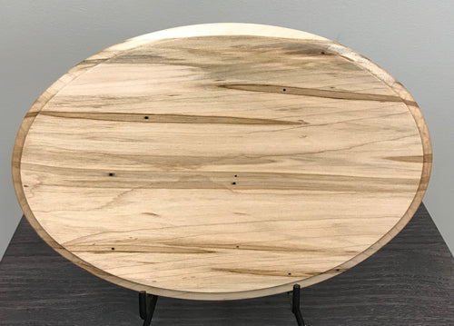 Wormy Maple Oval - 8