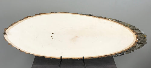 Basswood Bark On Sanded Oval Wood Plaque - Medium