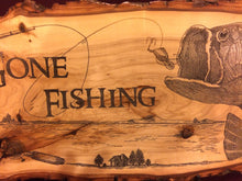 Gone Fishing Plaque (MD)