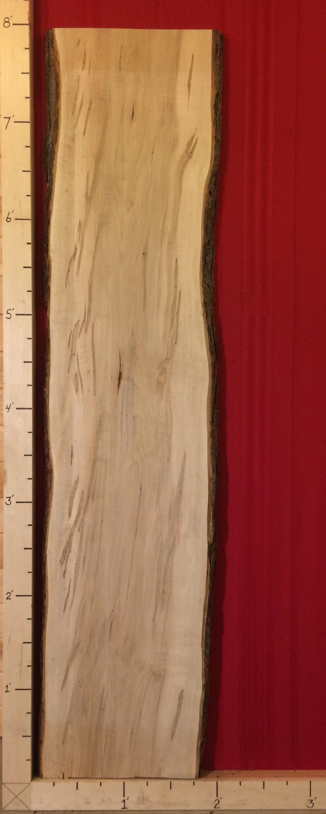 Wormy maple live edge slab