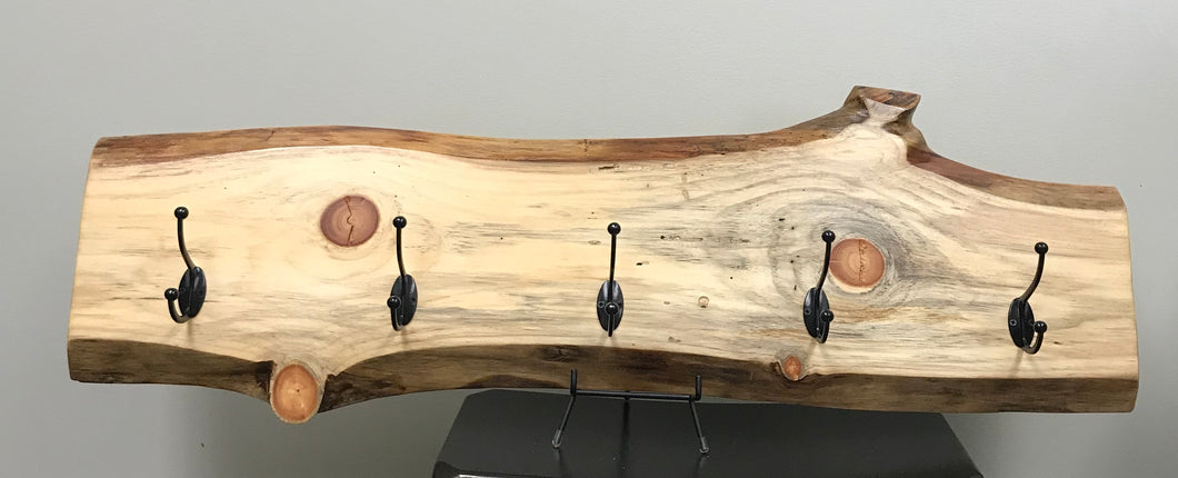 Live Edge Wood Coat Rack