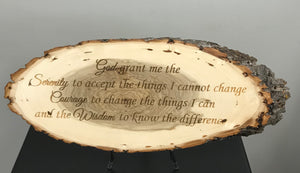 Serenity Prayer Laser Engraved Wood Art