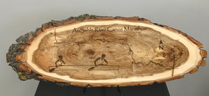 AuSable River Canoe Marathon Laser Engraved Plaque - AuSable River Canoe Marathon Gift - Wood Art