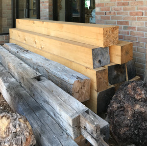 Mantels - Reclaimed Barn Beam Mantels - Finished and Unfinished Mantels - Reclaimed Barn Beams