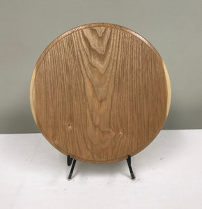 "Ash 10"" Round Wood Plaque"