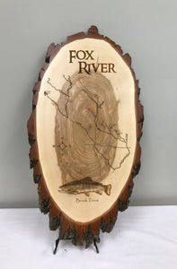 Fox River Laser Engraved Wood Plaque