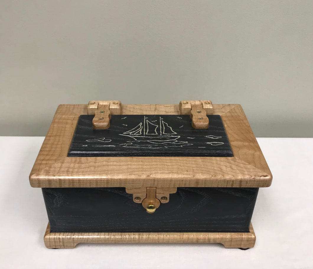 Jewelry Box - Wooden handcrafted jewelry box