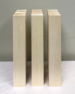 "Basswood Carving Blocks - (9) 2"" x 3"" x 18"""