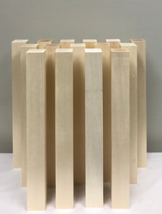 "Basswood Carving Blocks - (15) 2"" x 2"" x 18"""