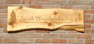 Outdoor Cedar Sign