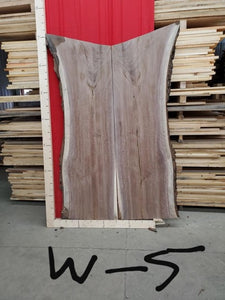 Walnut Live Edge Bookmatched Slabs