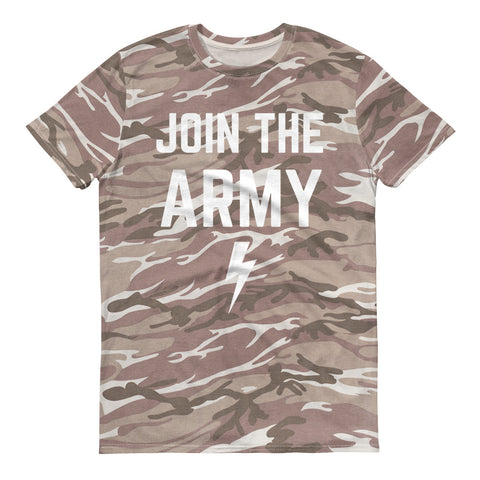 JOIN THE ARMY Camo Muscle Tee