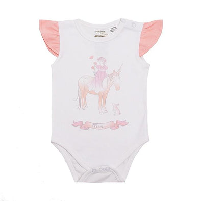 Unicorn Flutter Sleeve Bodysuit