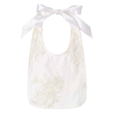 Madison Christening Bib Beige