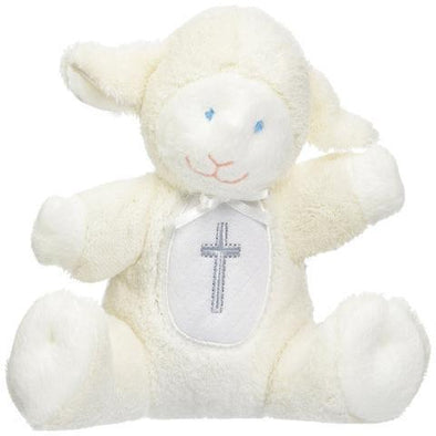 Christening Lamb Rattle
