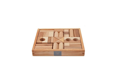 Wooden story Block Natural 30 Piece Set
