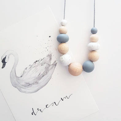 Sian Necklace Grey