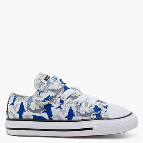Converse Toddler 1V Low Top Shark Bite