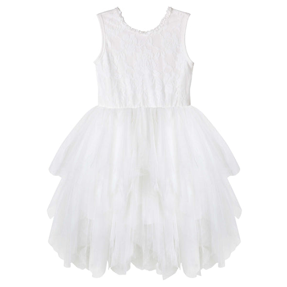 Ella Sleeveless Lace Tutu Ivory