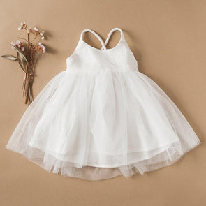 Karibou Kids Willa Linen Tutu Dress White