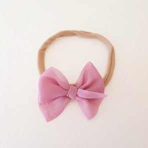 Chiffon Bow Headband Rose