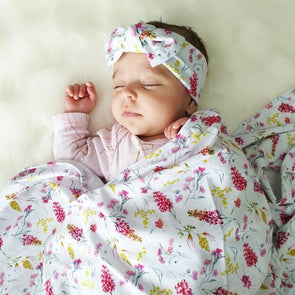 Australiana Floral Swaddle Wrap