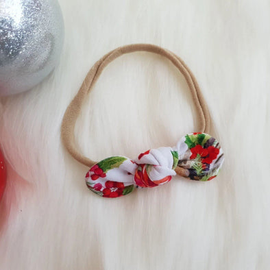 Christmas Deer Mini Bow Headband