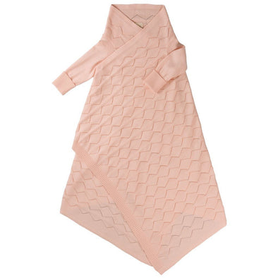 Diamond Lace Pointelle Shwrap Rosehip