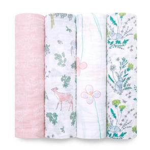 Classic Swaddles 4pk Forest Fantasy