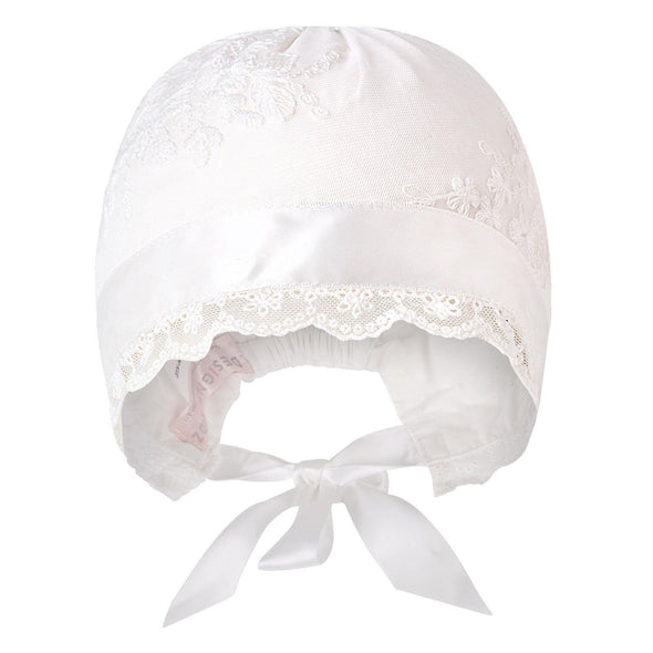 Madison Christening Bonnet Ivory
