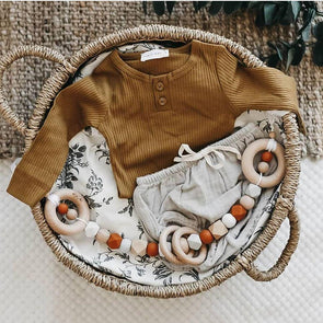 Scandi Pram Garland Rust Granite