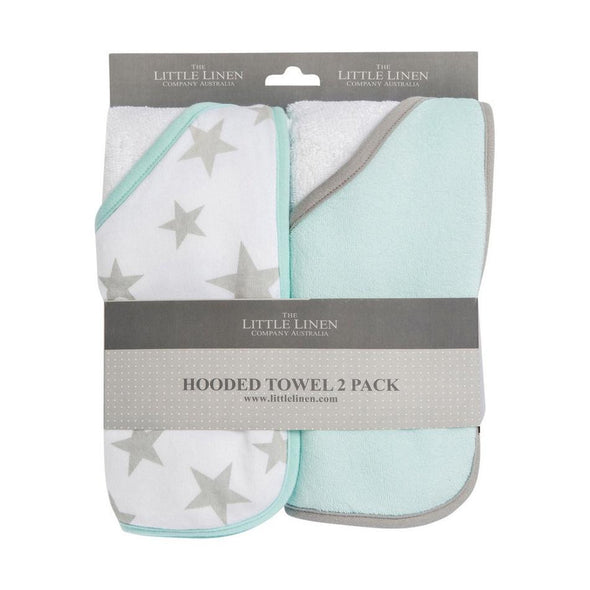 Hooded Towel 2pk Starlight Mint
