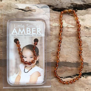 Amber Necklace 33-35cm Brown