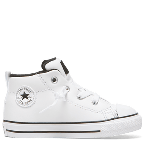 Converse Toddler Mid Street Spring Leather White