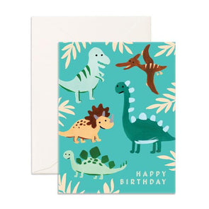 Fox & Fallow Card Birthday Dinos