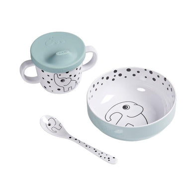 Done By Deer First Meal Set Happy Dots Blue
