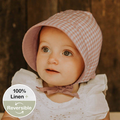 Reversible Sun Bonnet Gingham/Rosa