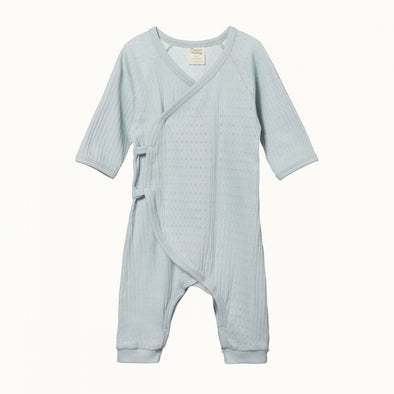 Nature Baby Pointelle Kimono Stretch & Grow Milky Green