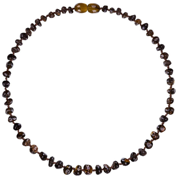 Amber Bud Necklace Green