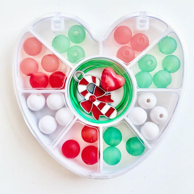 Bobble It Yourself Mini Heart Candy Cane