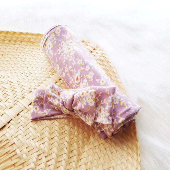 Lavender Days Headband Swaddle Set