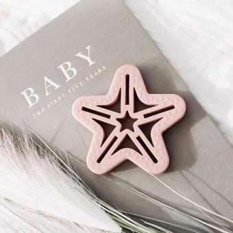 Shooting Star Silicone Teether Dusty Pink