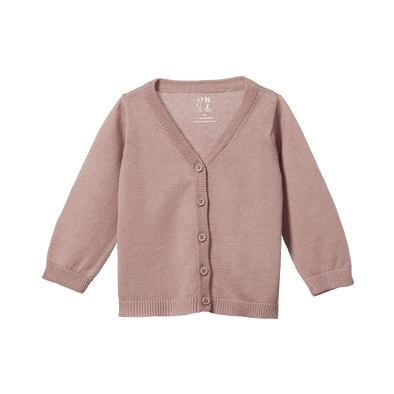 Nature Baby Light Cotton Knit Cardigan Camellia