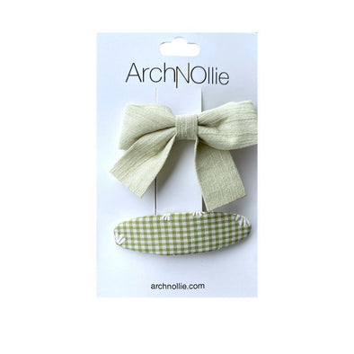Arch N Ollie Pixie Clips Tea Green