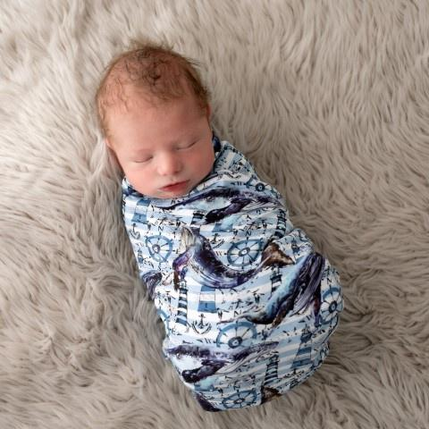 Nautical Swaddle Wrap