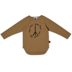 Kapow Kids Skate & Peace Placement LS Tee