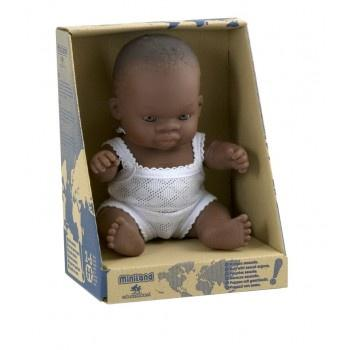 Miniland Anatomically Correct Baby Doll African Girl, 21 cm