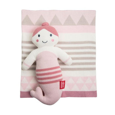 Weegoamigo Knit Toy & Blanket Comforter Pink Mermaid